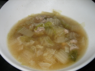 Picture of Meatball and Celery Cabbage Soup