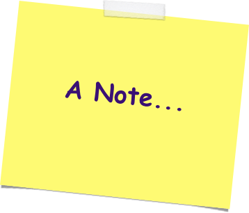 A note...